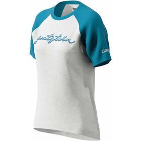 Zimtstern Sweetz Camiseta Mujer, glacier grey melange/blue steel